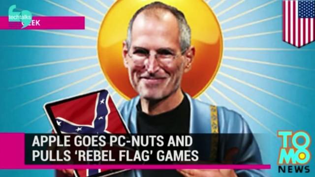 اپل بازی هایی با پرچم کنفدراسیون را از اپ استور بر میدارد