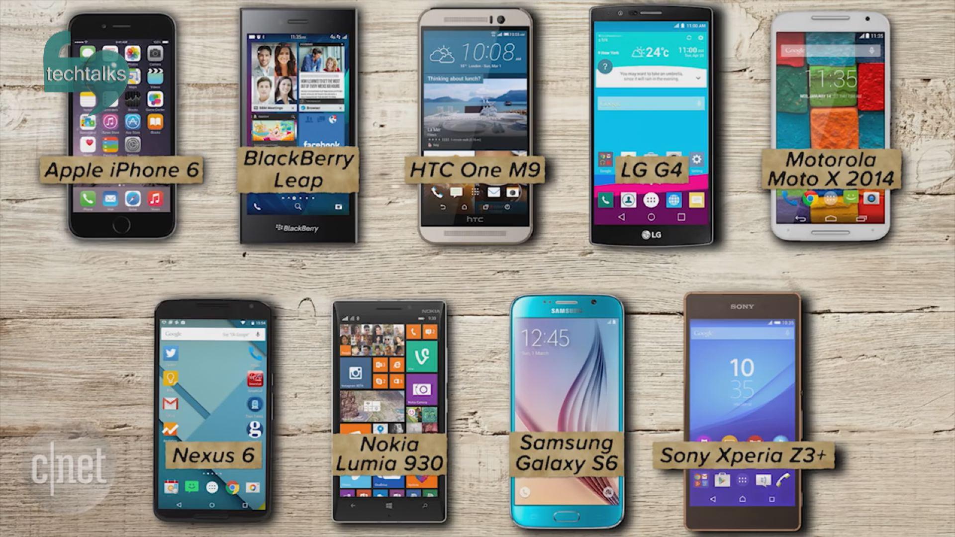 ۱۰ تلفن هوشمند برتر تاریخ  – تک تاکس – اولین رسانه تصویری فناوری اطلاعات و ارتباطات ایران