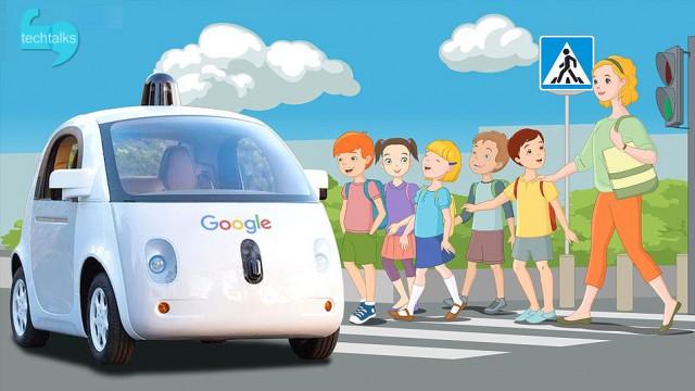 اختراع جدید گوگل برای ارتباط اتومبیل های خودران با عابرین پیاده