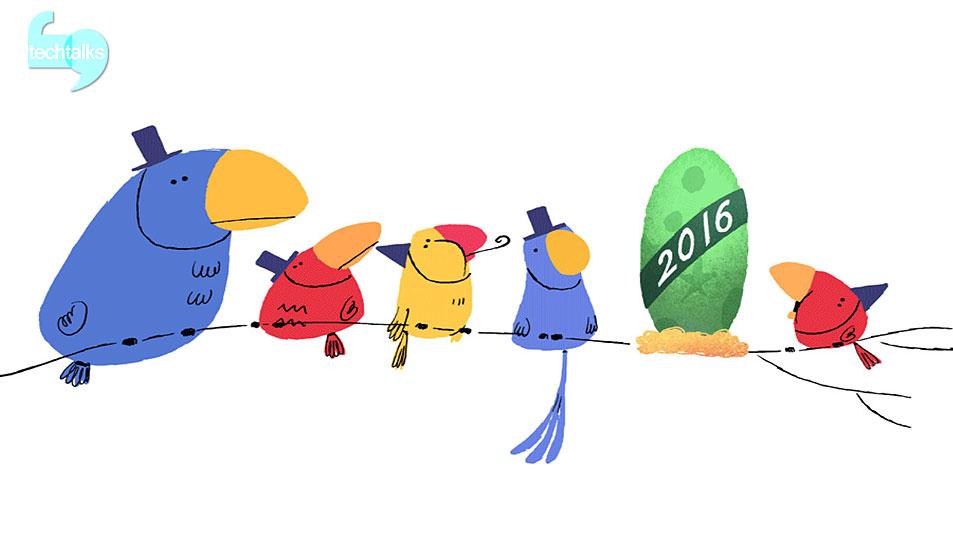 تک تاکس - گوگل سال جدید را با انیمیشنهایش جشن گرفت - techtalks.ir