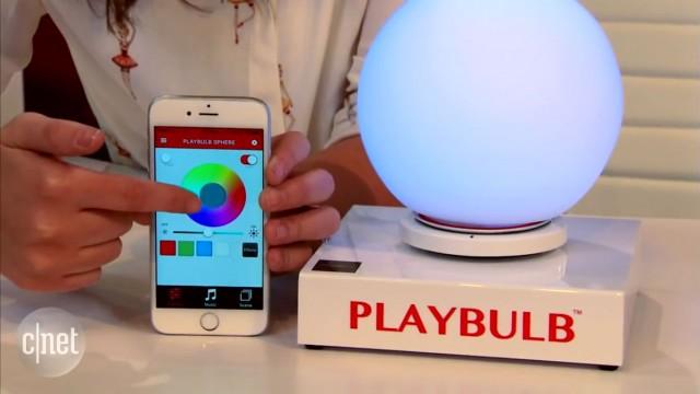 لامپ توپی بزرگی که با تکان دادن رنگ عوض میکند