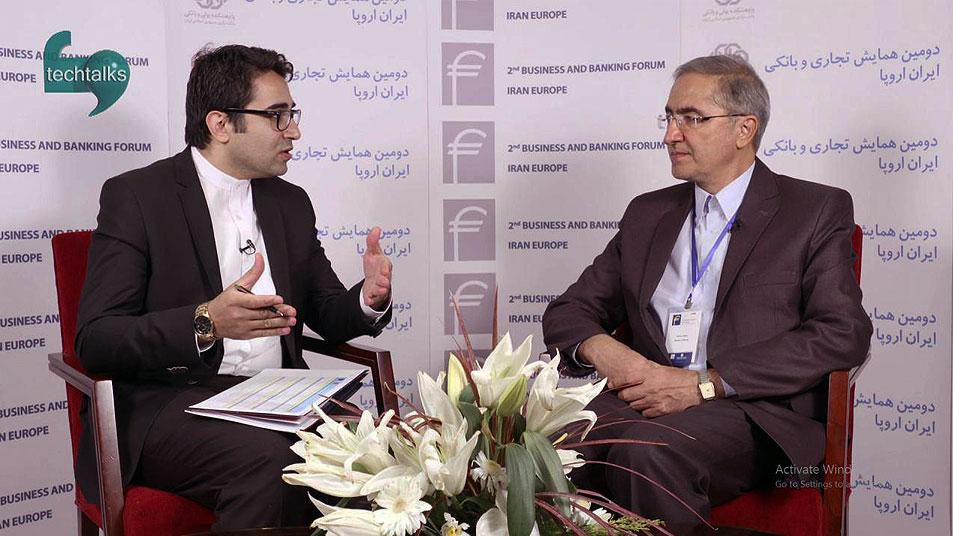 تک تاکس - همایش تجاری و بانکی ایران اروپا(17)- گفتگو با دکتر دائمی معاون وزیر نیرو - techtalks.ir