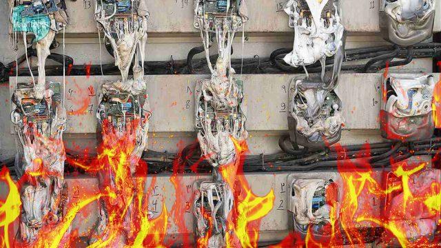 لوله گازی که منفجر شد تا مخابرات نو شود