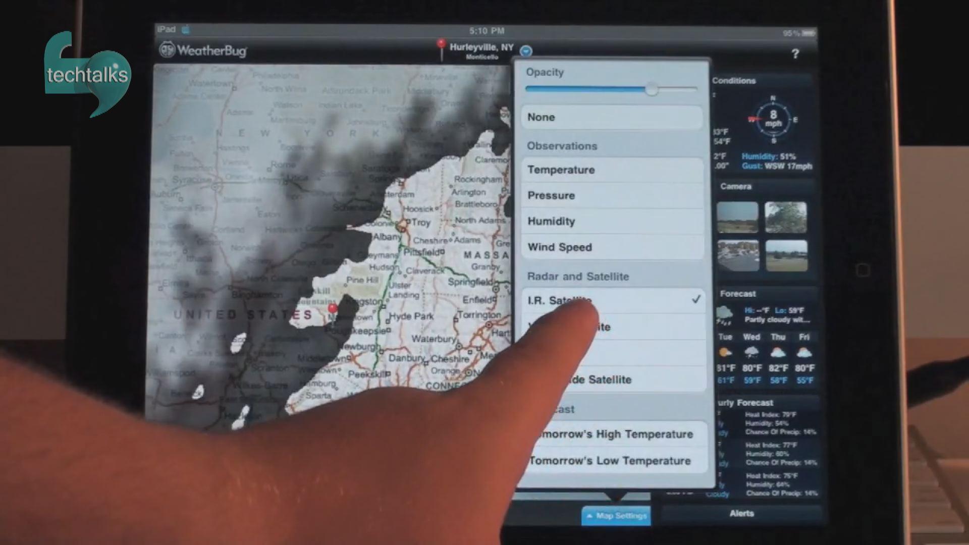 اپلیکیشن اطلاعات آب و هوا WeatherBug   – تک تاکس – اولین رسانه تصویری فناوری اطلاعات و ارتباطات ایران