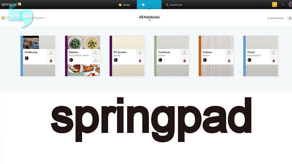 معرفی اپلیکیشن Spring Pad – تک تاکس – techtalks.ir